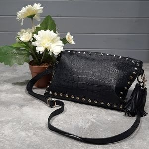 LP Blue (Linea Pelle) Studded Crossbody Bag